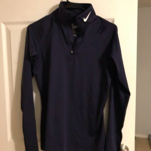 Nike quarter zip navy pullover